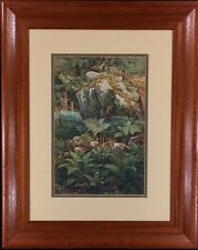 "Ernst Heyn Print of 19th Century Drawing: ""Mountain Getaway"""