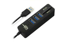 USB Hub Multi 3 Ports + 2 Lecteur de Carte Combo Micro SD / TF Haute Vitesse