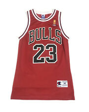VTG Michael Jordan Chicago Bulls Red Champion Jersey Gold Logo Size 40