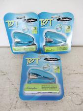 Lot Of 3 Swingline Tot Mini Stapler Plus 1000 Staples Built In Staple Remover