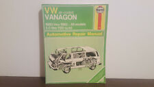 VW air-cooled vamagon 1980 thru 1983 automotive repair manual