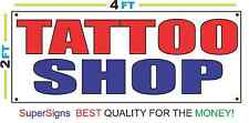 2x4 TATTOO SHOP Banner Sign Red White & Blue NEW Discount Size & Price