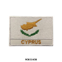 CYPRUS National Flag Embroidered Patch Iron on Sew On Badge For Clothes etc