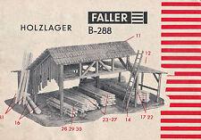 Faller b-288 magazzino LEGNO-VINTAGE original Recipe 60'er anni-RARO