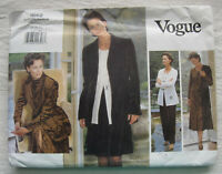 Jacket Sewing Pattern*Vogue 1662*Sz 18-22*UNCUT/FF*dress skirt pants PLUS SIZE