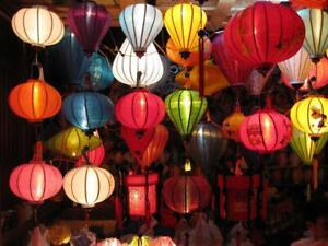 Set 50 pcs 35cm Hoi An silk lanterns for wedding party decor - Events decoration