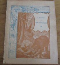16 Protège Cahier Ancien reliés jamais utilisés Fables de Lafontaine G. Dascher