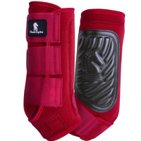 Classic Equine Classic Fit Horse Medicine SMB Sport Boots Crimson Red Front Hind