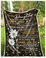 Daisy - Daughter (Dad) - I'll Always Be With You Sofa Fleece Blanket 50-80