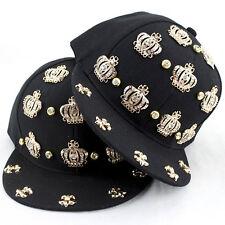 Crown Kids Rhinestone Adjustable Children Baseball Hip Pop Sun Cap Snapback Hat