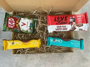 Vegan Chocolate Selection, KitKat, Kinder Bueno, NOMO, Crunchie, Bounty - 4 Bars