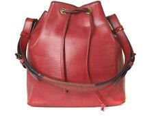 LOUIS VUITTON Petit Noe Red Epi Leather Drawstring Shoulder Bag LS9859