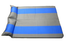SELF INFLATING LARGE DOUBLE CAMPING MAT with STORAGE BAG picnic beach garden
