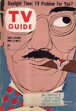 1957 TV Guide April 27-Groucho Marx; Danny thomas; Broderick Crawford; Abbe Lane