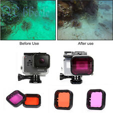 Red/Purple Lens Filter For GOPRO HERO 5 Housing Case For Dive Underwater Shoot