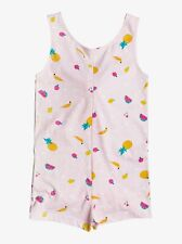 ROXY GIRLS ROMPER - REMEMBER SZ 7 - COVER UP FRUITS PINK GRAPHIC STRAPPY
