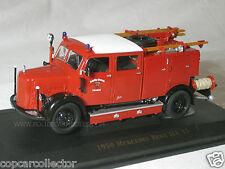 Yat Ming 1/43 1950 Mercedes Benz TLF-15 Fire Truck - German Fire Service - 43013