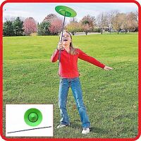 SPINNING JUGGLING PLATE  WITH STICK-CLOWN CIRCUS BALANCING MAGIC TRICK TOY