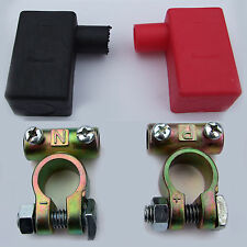 BATTERY TERMINAL CLAMPS & COVERS 12V 24V HIGH QUALITY CAR MOTORHOME HORSEBOX
