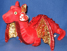 TY CLASSIC - FOSSILS the RED DRAGON - MINT with MINT TAGS