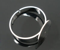 Wholesale Lots Ring Base Blank Glue-on 17.5mm (US 7)