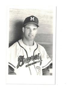 Frank Funk Milwaukee Braves Vintage Kodak Baseball Postcard RH2