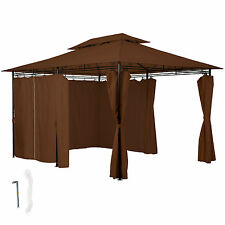 Carpa fiestas y eventos pabellón de lujo 3x4 m jardín tienda de campaña marrón