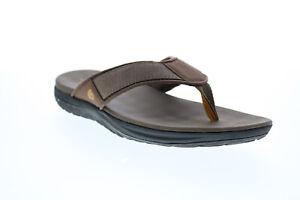 Clarks Step Beat Dune 26141018 Mens Brown Canvas Flip-Flops Sandals Shoes
