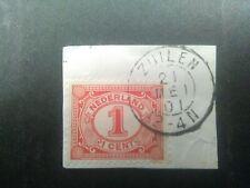 Nederland kleinrond ZUILEN op briefstukje met 51