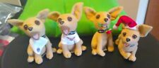 Set Of Taco Bell Chihuahua Rose Stuffed Dogs