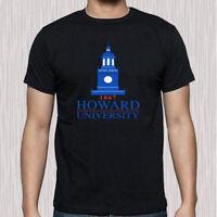 Howard University Famous Campus Logo Men's Black T-Shirt Size S to 3XL