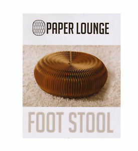 Foot Stool & Felt Top by Paper Lounge - Portable Concertina Design