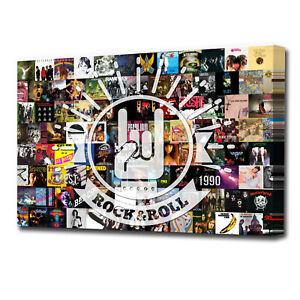 Best of Rock Debut Albums Music Scene Canvas Print Wall Art AA1833