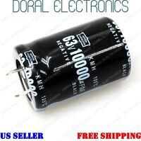 10000uF 63V 30x45mm Capacitor Electrolytic Audio 10000 UF MFD 10000mfd 63 volt