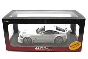 BMW Z4 Coupe Race Car (1:18) RARE Plain Body Version White Diecast, by AUTOart