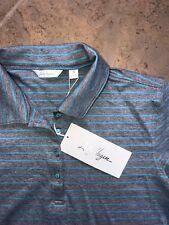 Lady Hagan Womens NWT Small Gray/blue stripe golf Hydro-Dri shirt top !!