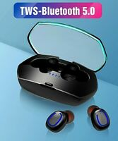 TWS Wireless Bluetooth 5.0 Headphones Earphones Mini In-Ear Buds For IOS Android