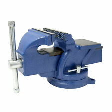 Steelman 5 Inch Swivel Base Bench Vise With Anvil 67415