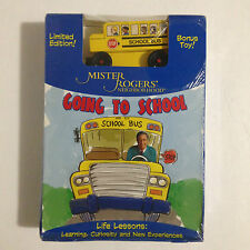 NEW MISTER ROGERS NEIGHBORHOOD DVD GOING TO SCHOOL WITH LIMITED EDITION BUS RARE
