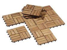 10 Holzfliesen Terrassen Klick Holz Fliese geölter langlebigem Akazienholz 0,9m²