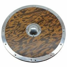 New Armour Round Wooden Viking Shield With Aluminum Boss Cosplay LARP Weapon