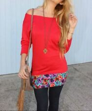 Rodeo Fox Blouse Red Hip Hugger Demi Loon Size Large