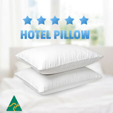 2x Aus Made Microfibre Hotel Pillow Cotton Cover -Altern to Down/Latex/Memory