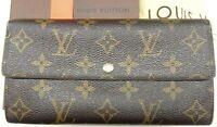 Auth LOUIS VUITTON Monogram Portefeuille Sarah Long Bifold Wallet France M61734