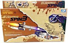 Pistola de combustión Spin 3 fuerzas de valores Linterna Sonido infrarrojo pistola de bala de laminación