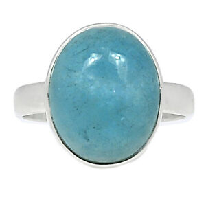 Aquamarine - Brazil - Stone Of Courage 925 Silver Ring Jewelry s.8.5 BR91975
