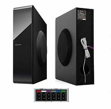 Pioneer BluRay 3D Home Cinema Slim Sub Subwoofer 250W 4 Ohms +Speaker Cable Plug