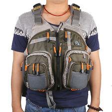 Adjustable Multi-pocket Fly Fishing Backpack Chest Mesh Bag Vest Outdoor Size