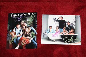FRIENDS TV SHOW CAST (2) NICE 8 X 10 ORIGINAL SIGNED PHOTOGRAPH'S & COA'S