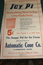 #4104.ICY PI,Ice cream 1950's Broadside Flyer,Automatic Cone Co.